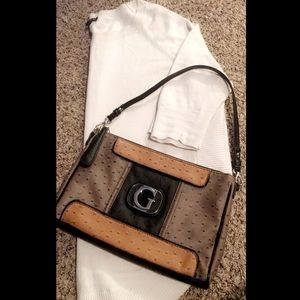 Guess Nude Patchwork Shoulder Purse